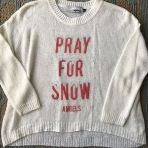 "THE LAUNDRY ROOM women's sweater ""Pray for snow"""